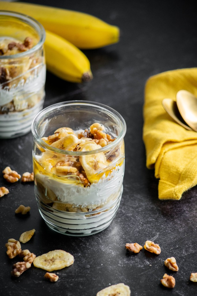 Banana Nut Yogurt Breakfast Parfait