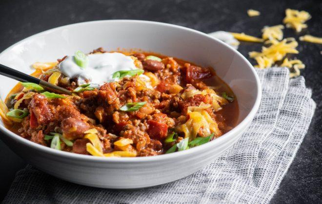 Chorizo Chili with Hominy