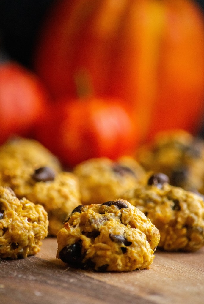 Pumpkin Oatmeal Chocolate Chip Cookies with Pistachios