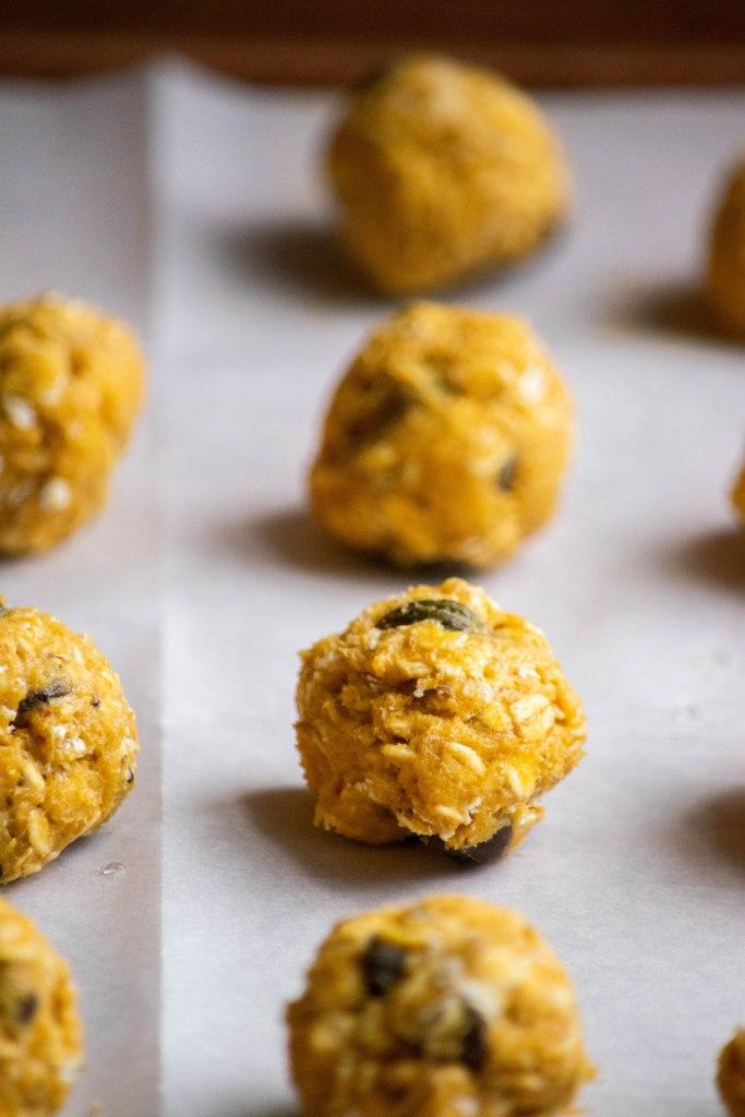 preparing the cookies
