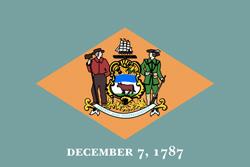 Delaware State flag. Universities jobs.