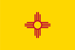 New Mexico state flag. Universities and jobs.