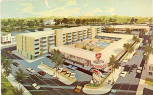 Heart of Jacksonville Hotel postcard, 1965
