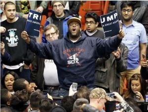 protestor trump