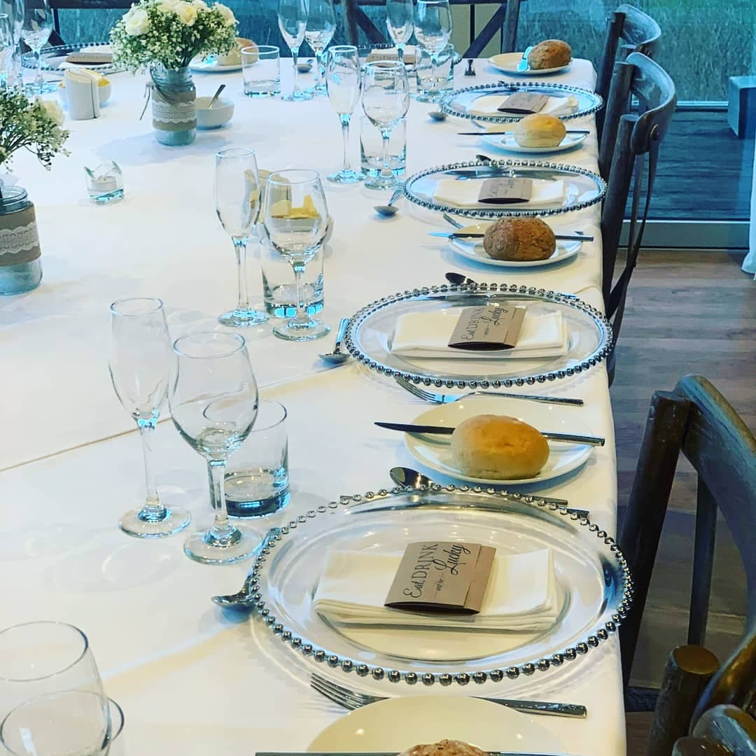 Event Catering - table set up