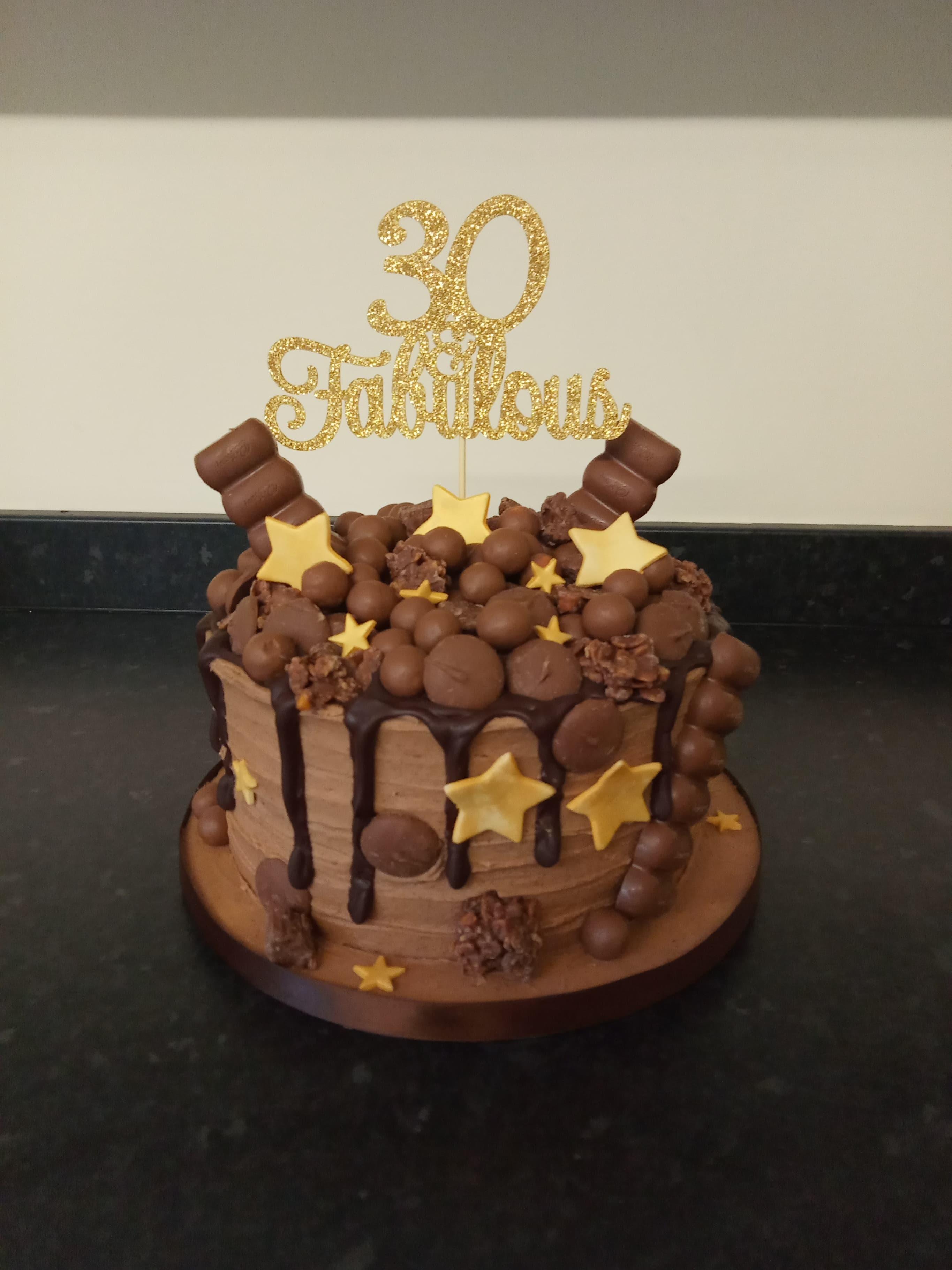 30th chocolate overload birthday cake