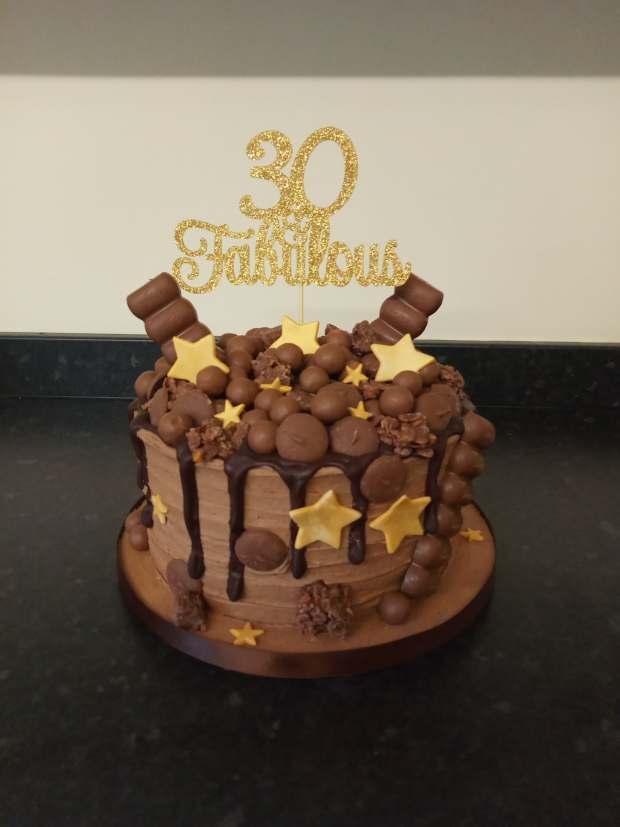 Chocolate overload birthday cake