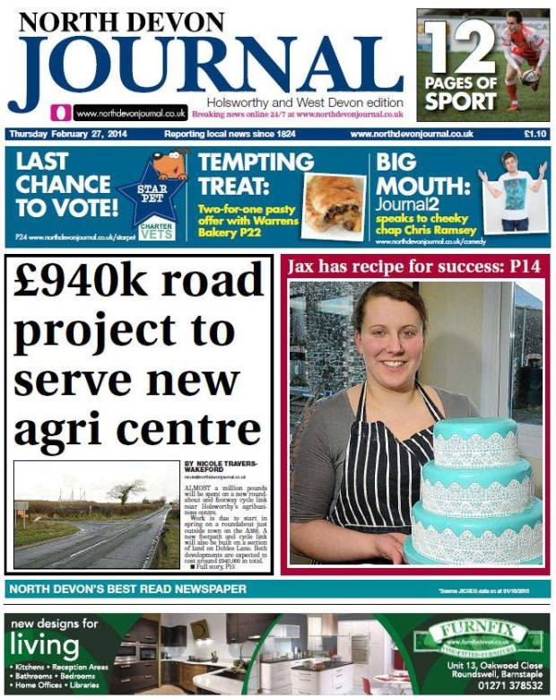 Featured in North Devon Journal