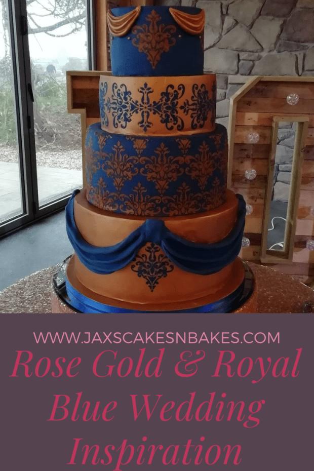 Rose gold & royal blue wedding inspiration