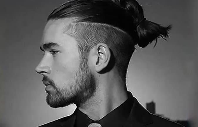 long hairstyle for men samurai style