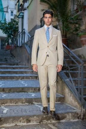 man wearing tan suit Jaxson Maximus suit color guide