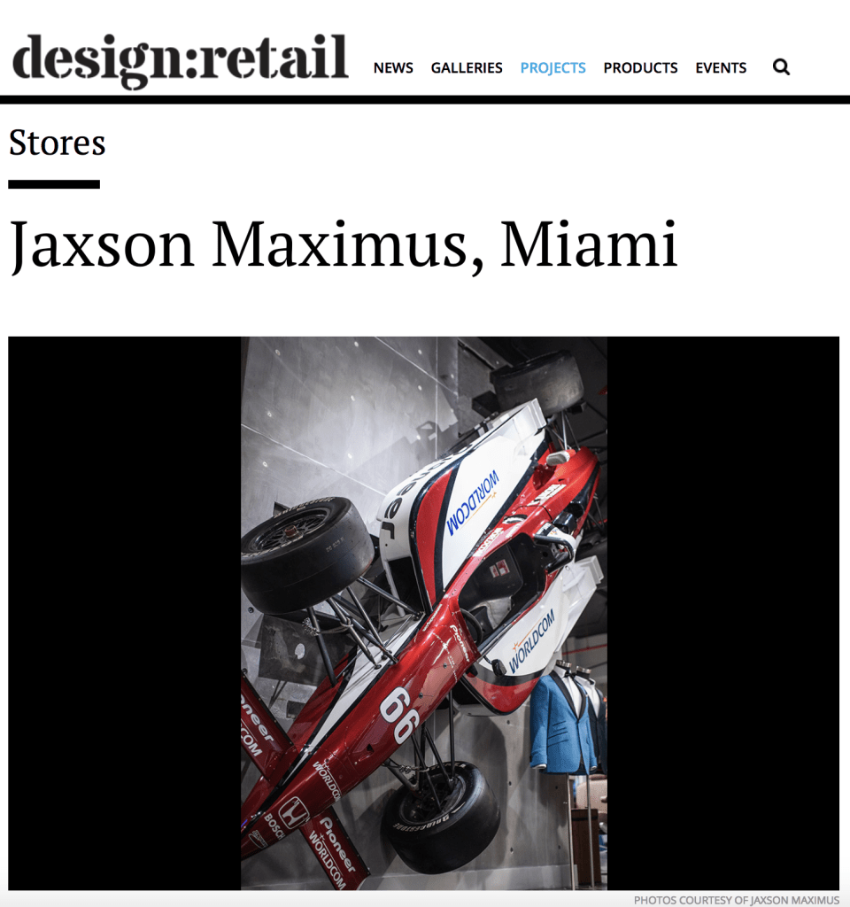 design retail Jaxson maximus article