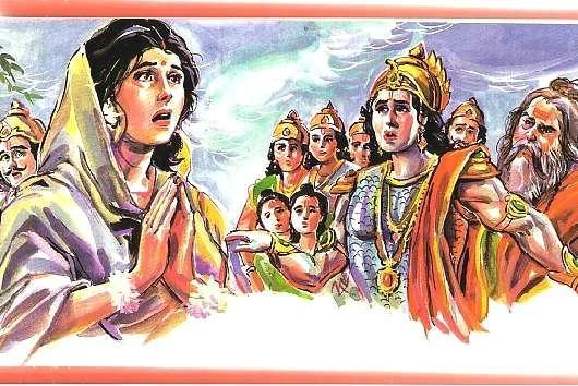 Scene -6 Seetha left by Rama with Twins