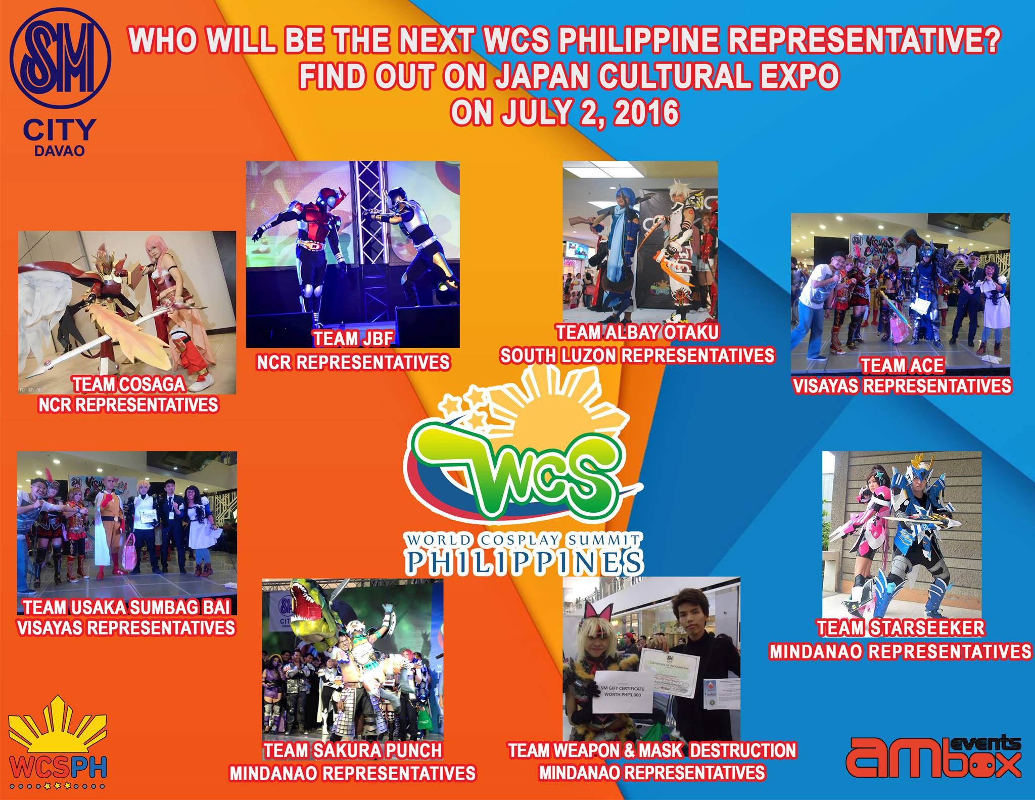 WCSPH 2016 National Finals on July 2 in Davao