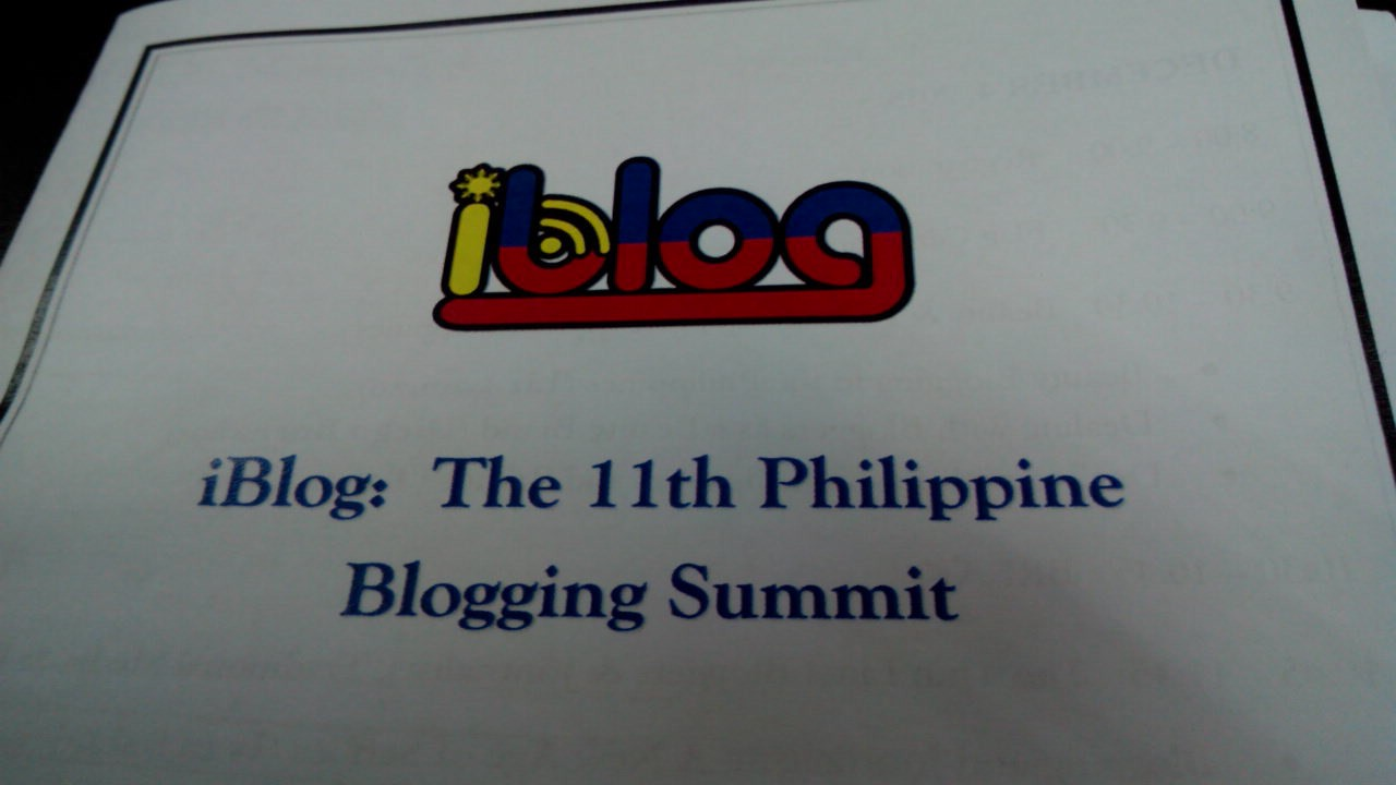 I'm currently at #iBlog11