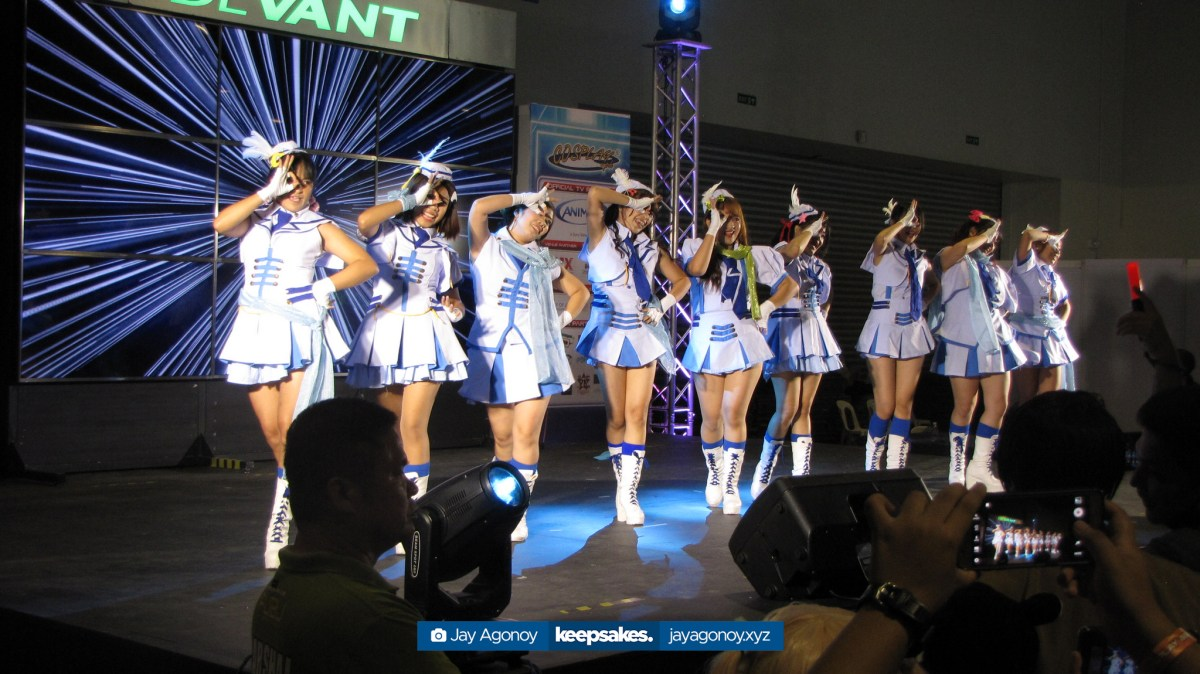Anime Idol Cover Group Dream Catchers at the EX Stage.