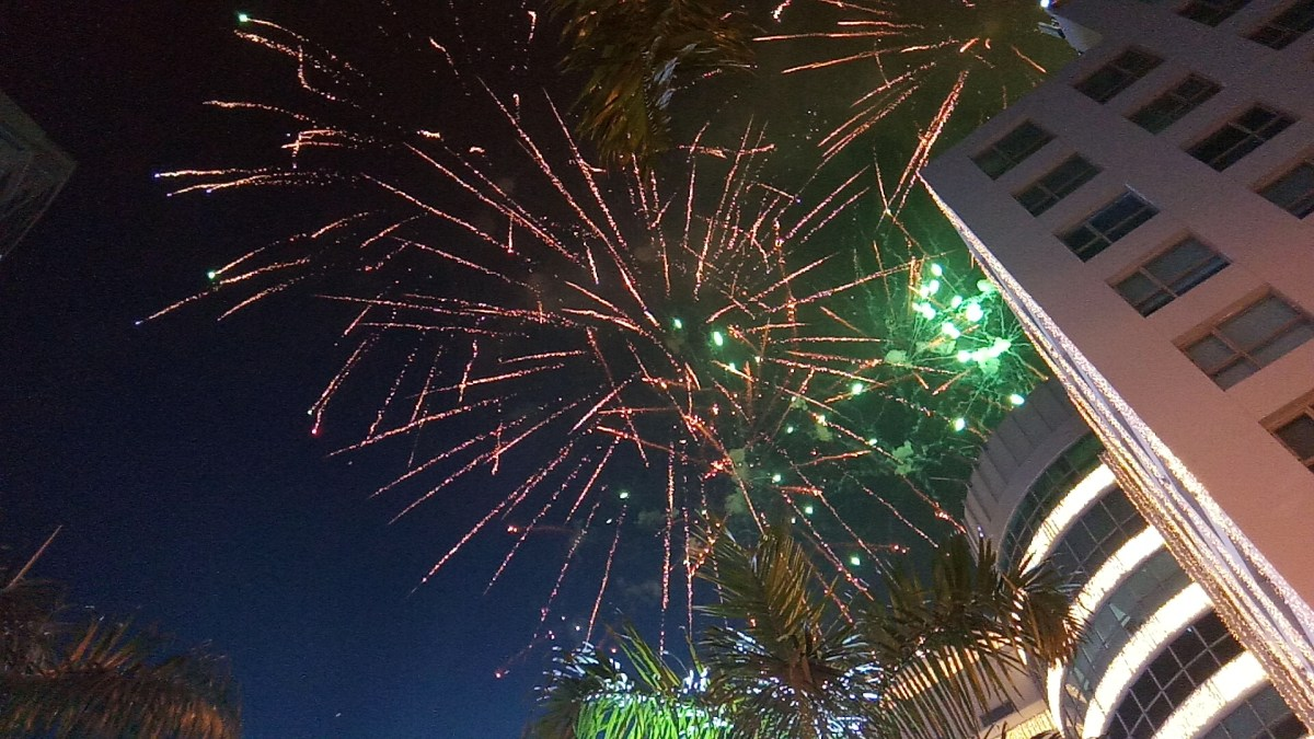 New Year's Fireworks at Eastwood City, 2020.