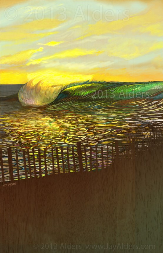Caliroots festival wave art by Jay Alders