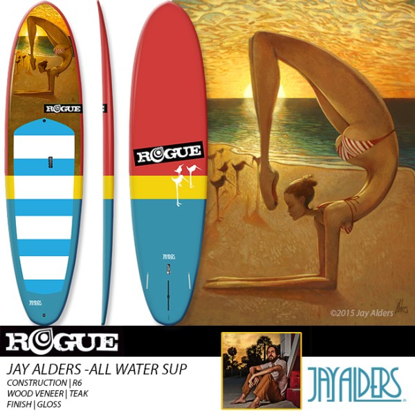 Yoga Art SUP by Jay Alders and Rogue SUP
