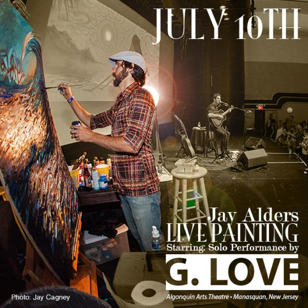 Jay Alders Live Art Painting with G Love in Manasquan NJ