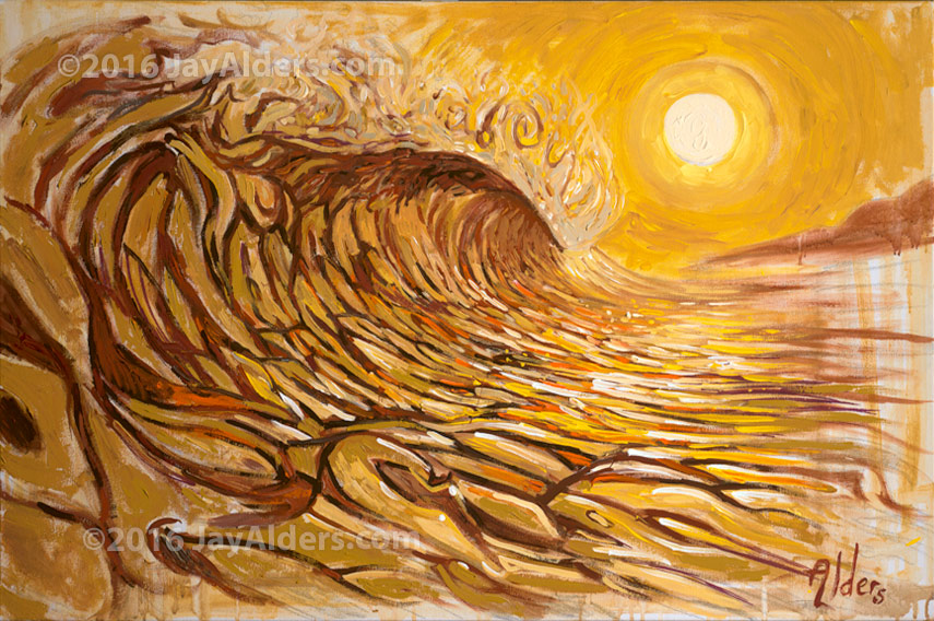 Surf Art, live art - Surf Art painting by Jay Alders from Expendables show in Philly