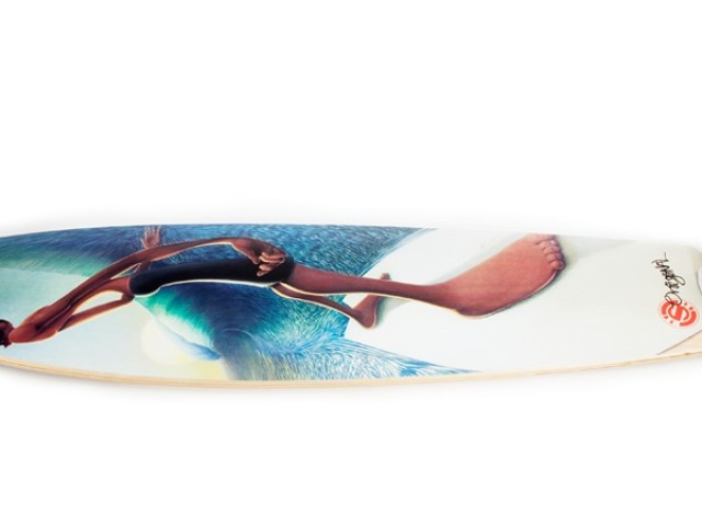Left Behind the Wall Longboard Skateboard