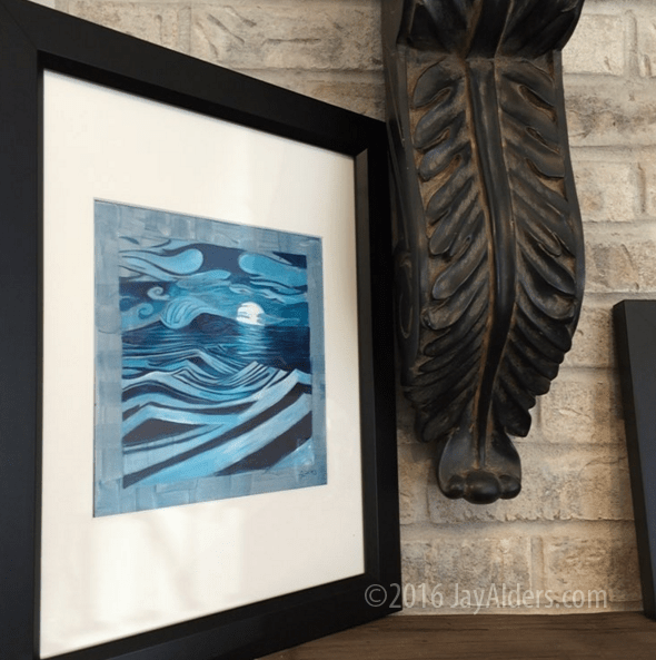tidal moon coastal art print