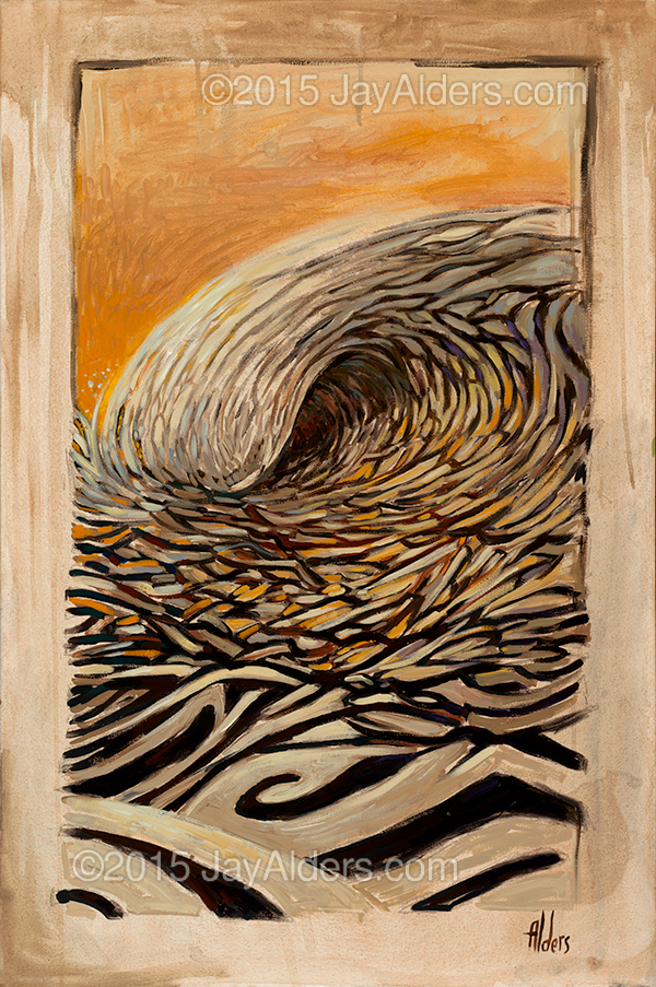 Three to the Left- Surf Art painting