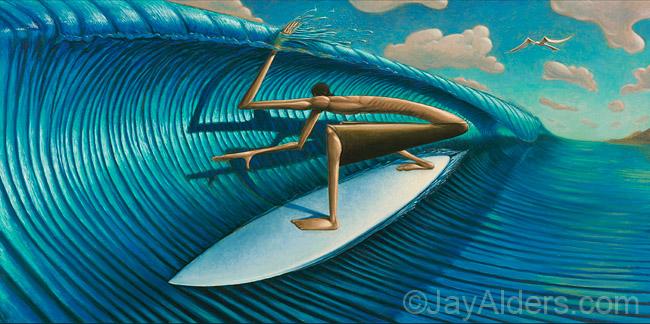 Cut Lip surfer art by Jay Alders