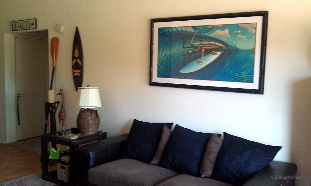 Cut Lip Surf Art in Home by Jay Alders