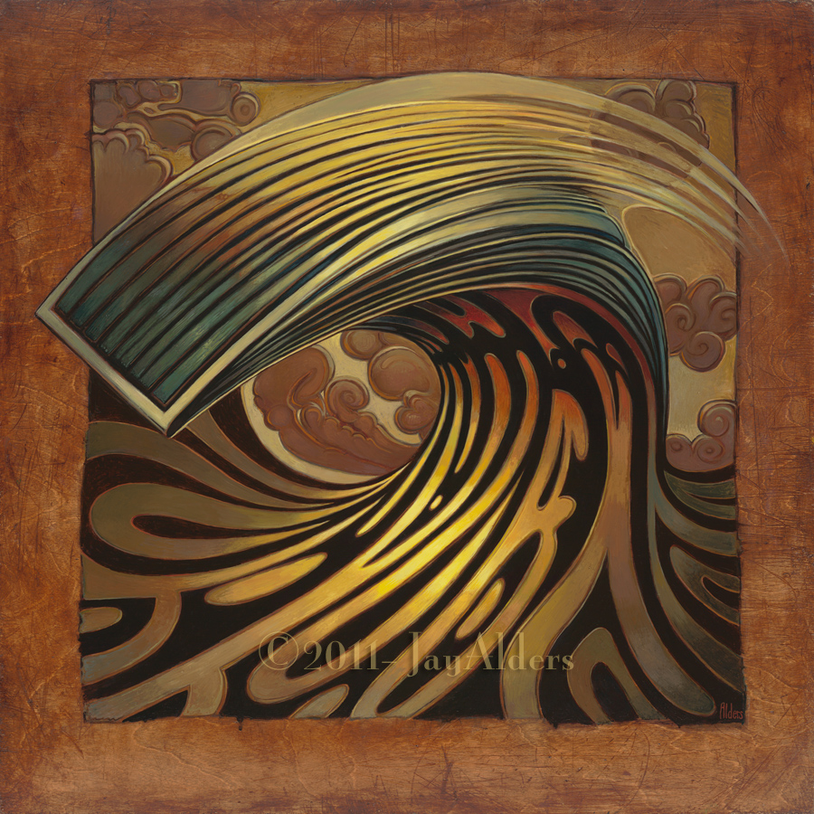 Throwing Lines - modern surf art painting