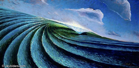 Out of the Blue - wave art