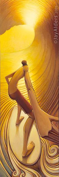 Pot of Gold - surfer art