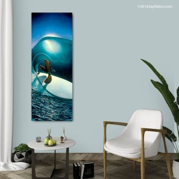 contemporary surf art print for home by Jay Alders