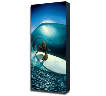 right past the light - surf art modern painting by jay alders