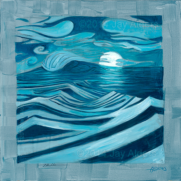 The Tidal Moon - surf painting