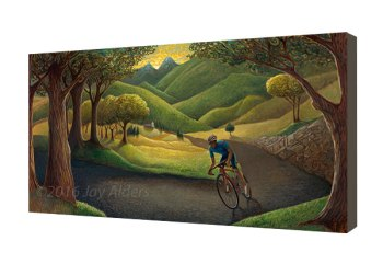 Mountainside Cruise - Modern cycling art by Jay Alders