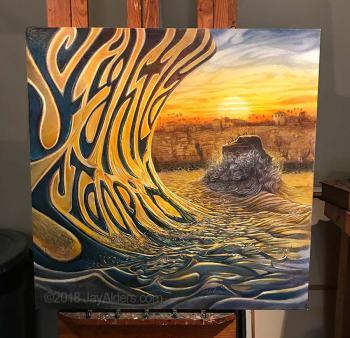 Surf art for Slightly Stoopid album Everyday Life Everyday People