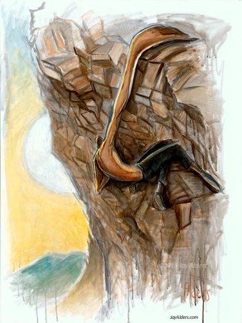 Mile High- Rock Climbing Art