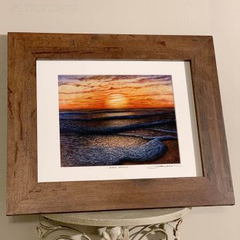 Ripple Effect Beach Art in Wood frame