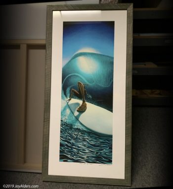 Right Past The Light elongated surfer figure art