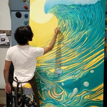 Sea Hear Now Surf Art by Surfer artist Jay Alders