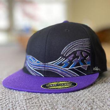 custom hand-painted surf art hat by jay alders