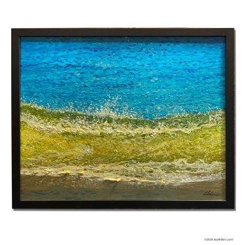 Shore break ocean and beach inspired artwork impressionist painting