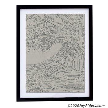 wave art 7920 by Jay Alders line art