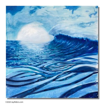 Blue Iron - Original surfing artwork painting