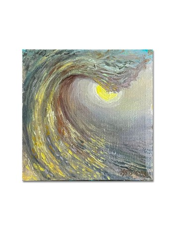 Oil painting of an ocean surf wave by Jay Alders