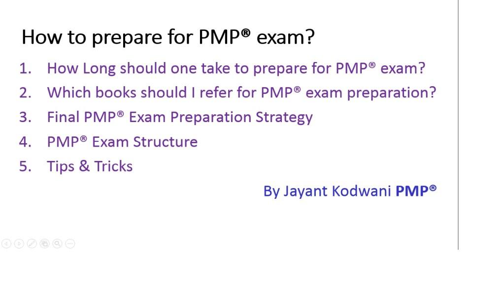 How to Prepare for PMP exam? - JayantKodwani com