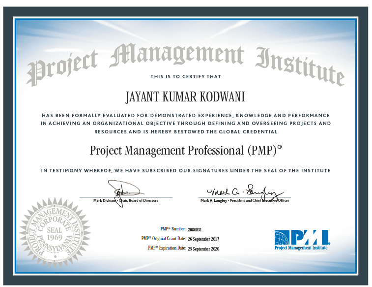 a beginner's guide for pmp® certification by a pmp® - jayantkodwani.com