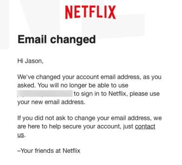 Netflix Email